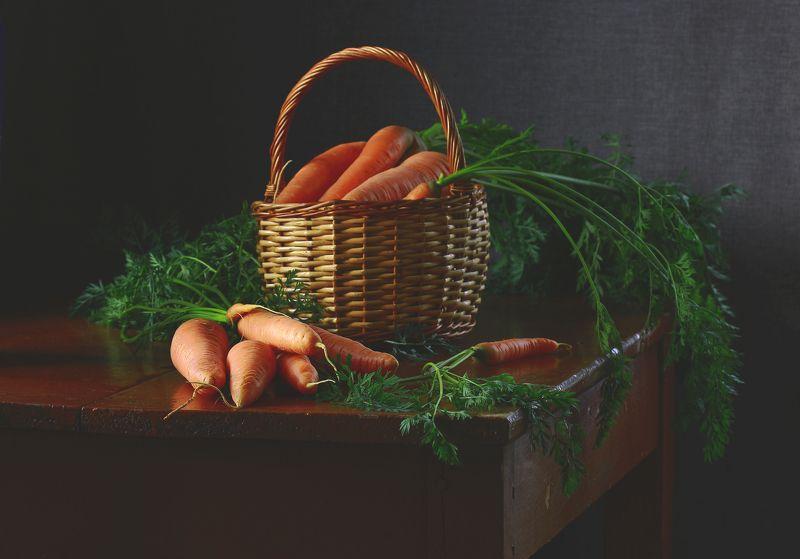натюрморт, фотонатюрморт, лето, осень, овощи, морковь, наталья казанцева Сама садик я садила...(2)photo preview
