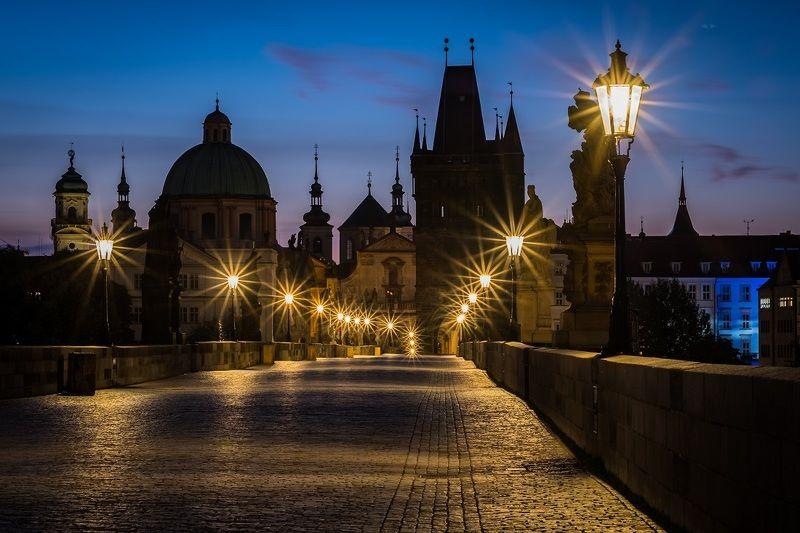 architecture, charles bridge, morning, sunrise, city, old town, ancient, bridge, prague, прага, мост, карлов мост, архитектура Charles bridge, Praguephoto preview