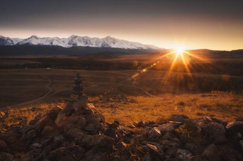 алтай, горныйалтай , курай, пейзаж, горы Последний луч закатаphoto preview