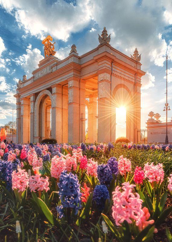 вднх, весна, цветы, Moscow, architecture, москва, город ВДНХphoto preview