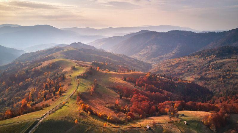 вечер, горы, дронофото, закарпатье, закат, карпаты, октябрь, осень, украина Вспоминаем осенние Карпатыphoto preview