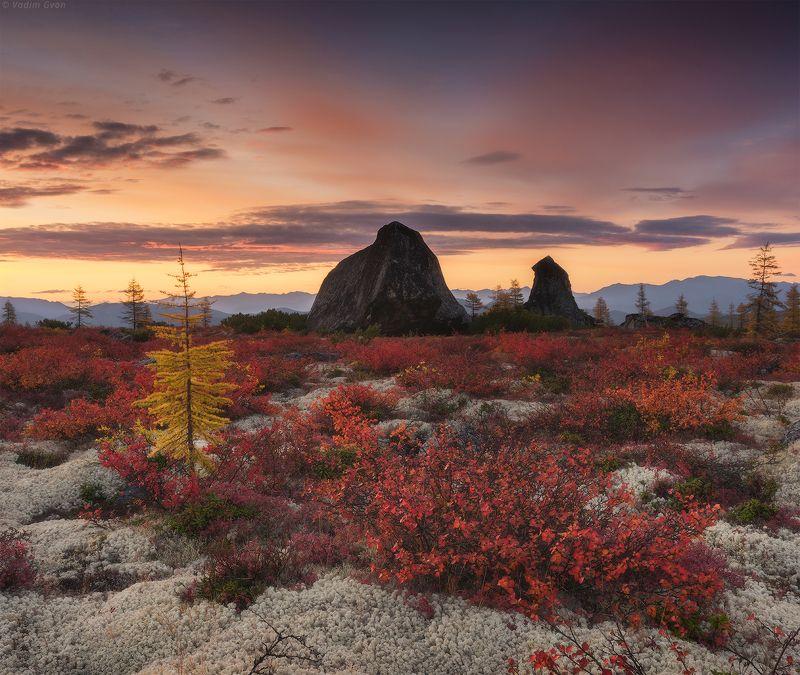 озероджекалондона, магадан, колыма Рассвет на красном платоphoto preview