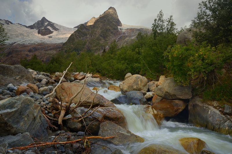 горы осень река алибек Алибек фото превью