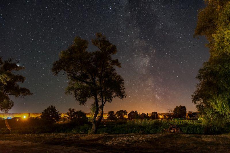 ночь, млечный путь, титовка, шебекино, река нежеголь Вечера на хуторе...photo preview