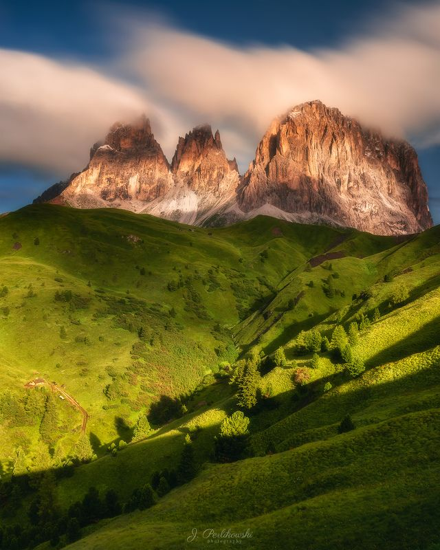 dolomites, alps, mountains, sunrise Sunrise in Dolomitesphoto preview