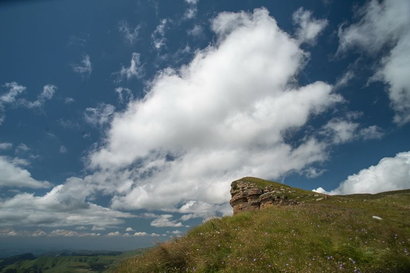 гора, рассвет, небо, плато, облака, утро, тучи, холмы, долина ОБЛАКА НАД ПЕРЕВАЛОМ ГУМ БАШИphoto preview
