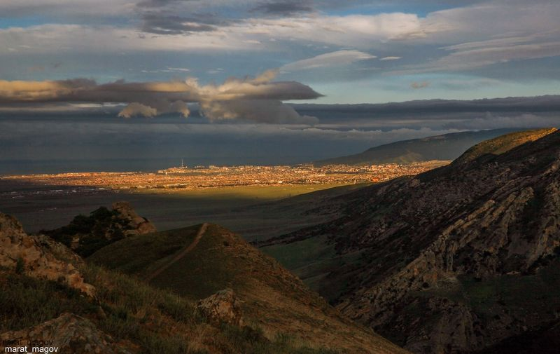 горы,махачкала,вечер,солнце свет, Свет солна золотого..photo preview