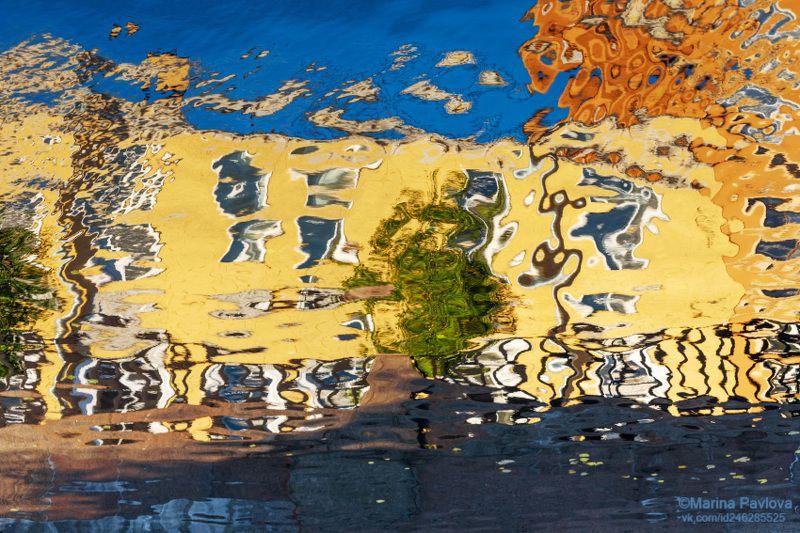 город, петербург, абстракция, акваабстракция, акваграфика, отражение на воде, парейдолия, петербургские акварели, nikon \