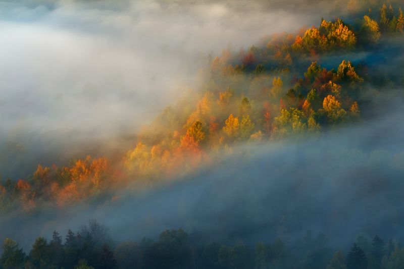 landscape,autumn,mountains,canon Touch of the Morning Sun... фото превью