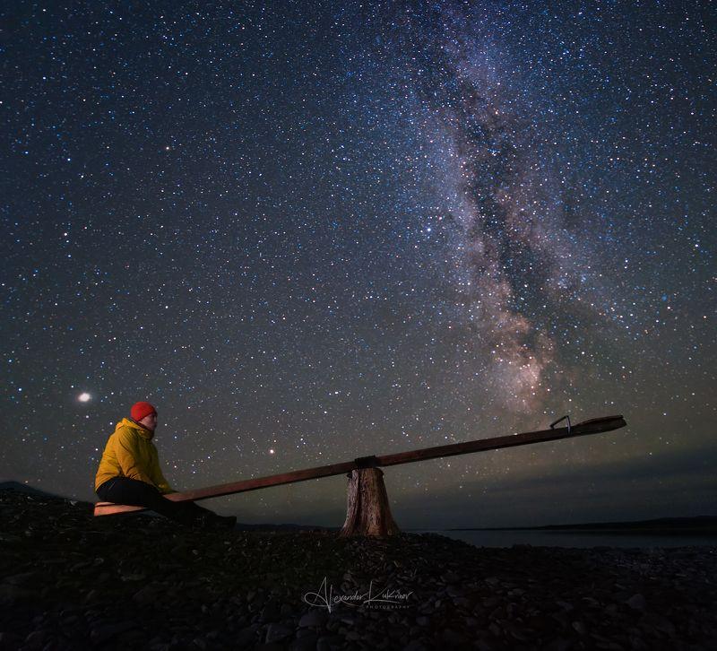 шантары,ночь,звёзды Свидание со вселенной...photo preview