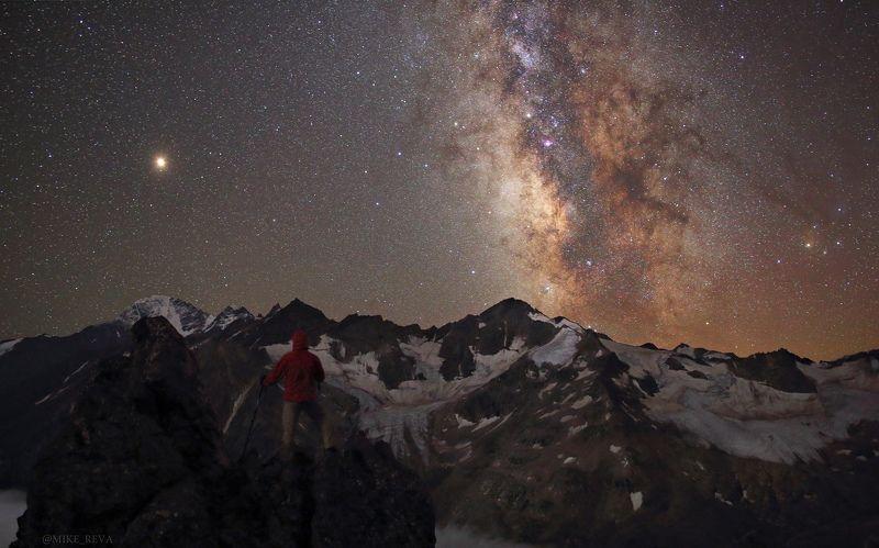 ночь ночной пейзаж астрофотография звезды созвездия Вглядываясь в безднуphoto preview
