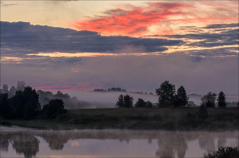 Волшебный восход на водохранилищеphoto preview