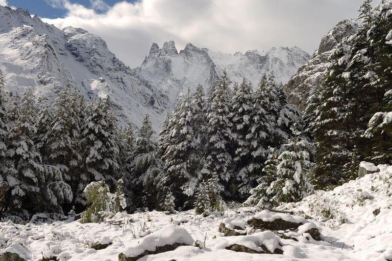 шхельда, кабардино-балкария Первый снегphoto preview