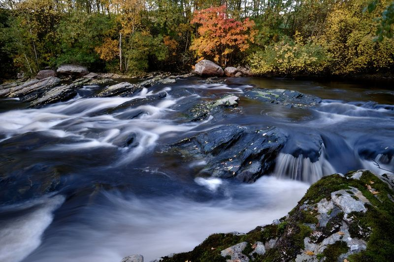Landscapes, nature, river, colors, Autumn, Fall, long exposure, water, Norway, rocks, leafs, trees,  Ближе к октябрю...photo preview