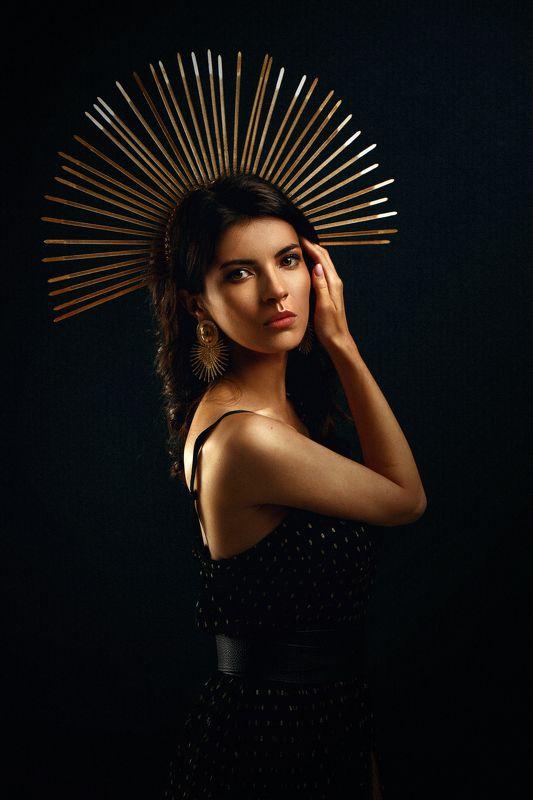 Портрет, студийная съемка Вероникаphoto preview