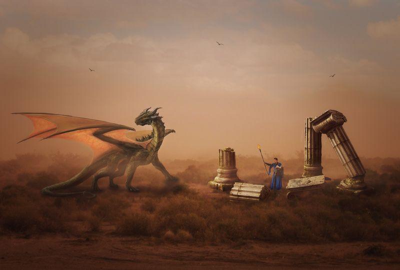 дракон, руины *****photo preview
