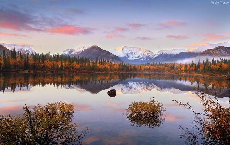 кольский, север, заполярье, хибины Осенний рассвет на Кольскомphoto preview