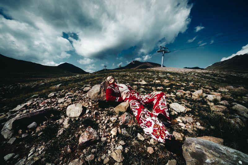 woman, portrait, fashion, beauty, outdoors, travel Caucasus Chroniclesphoto preview