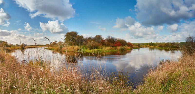 беларусь, день, луга, неман, осень, панорама, река, сентябрь Верховье Немана в сентябреphoto preview
