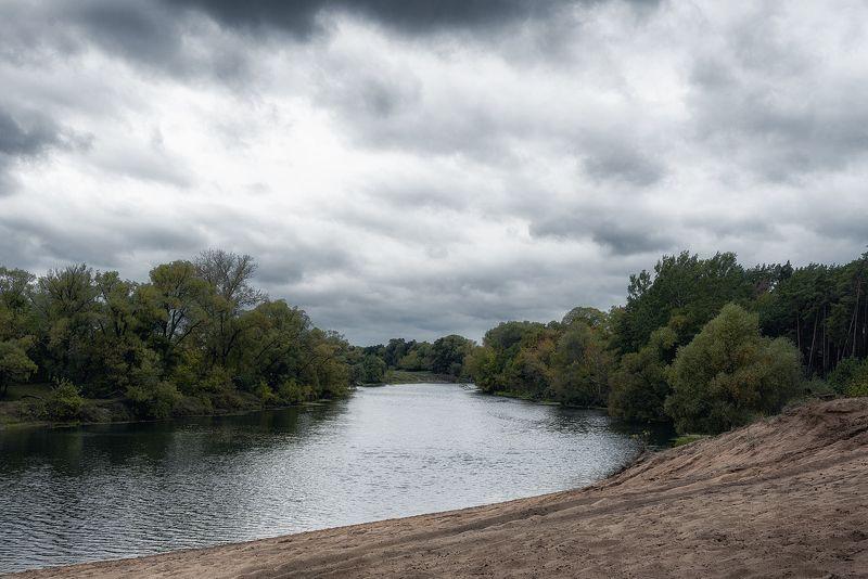 пейзаж, река, пляж, небо Река Сеймphoto preview