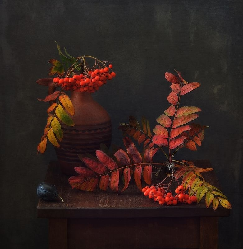 натюрморт,композиция,рябина,осень рябиновая осень... фото превью