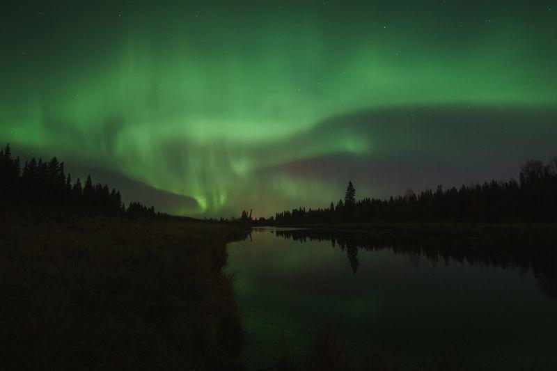 печора, северное сияние, коми Ночной сентябрьphoto preview