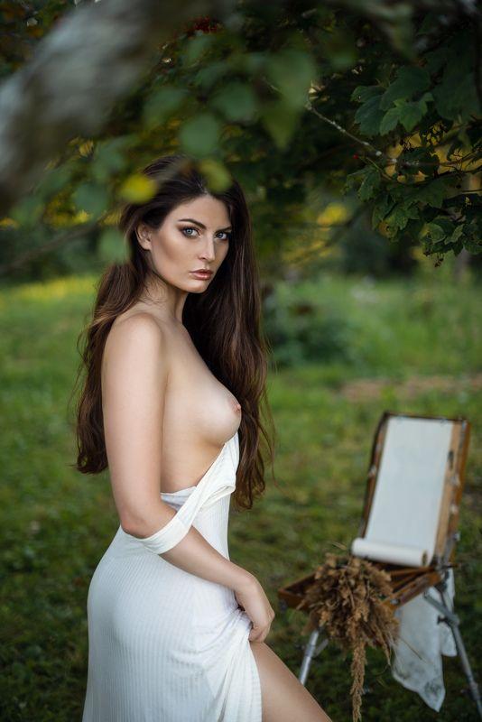 женский портрет, ню, жанровый портрет Натурщицаphoto preview