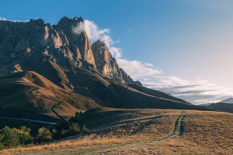 горы, перевал, ингушетия, рассвет, природа, осень, кавказ, пейзаж, Рассвет в горах Ингушетииphoto preview
