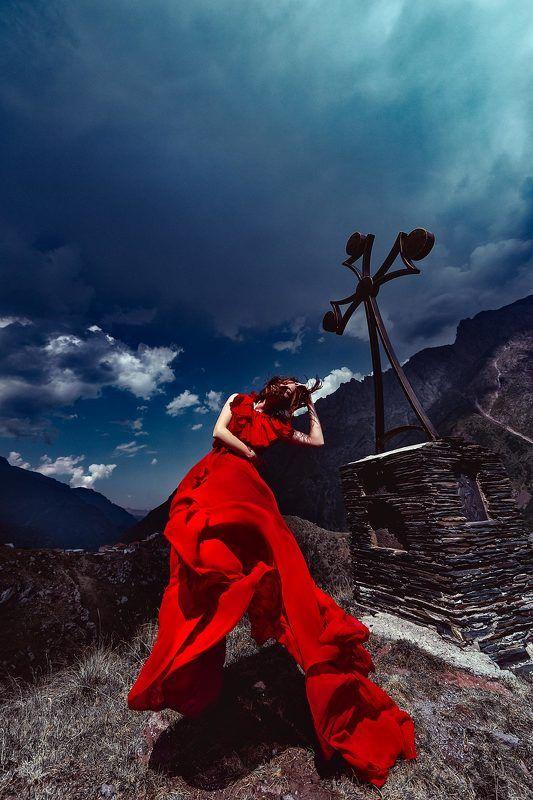 woman, portrait, fashion, beauty, outdoors, travel The Blazing soul of Sakartvelophoto preview