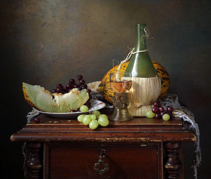 натюрморт, виноград, дыня, осень Mon plaisirphoto preview