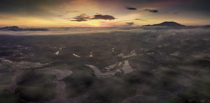 #mavicair #landscape Morning at Long coc tea hillphoto preview