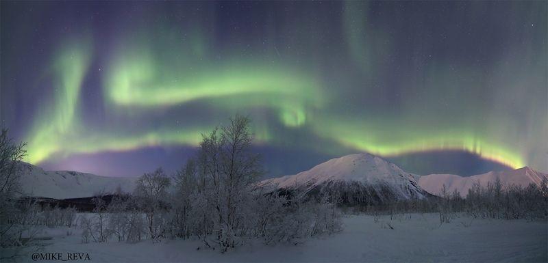 хибины звезды северное сияние ночной пейзаж астрофотография Магия Хибинphoto preview