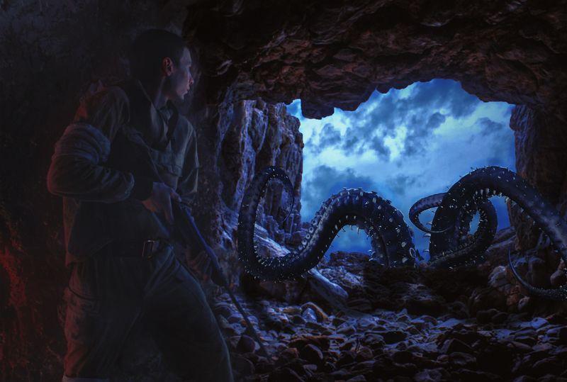 пещера, осьминог *****photo preview