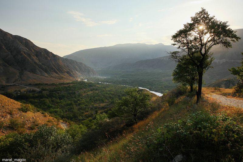 река,рассвет,утро,горы,андийское кайсу,ботлихский район, Горный пейзаж..photo preview