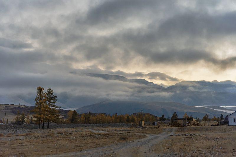 курай, курайская степь, утро, облачность, алтай, горный алтай, чуйский тракт, дорога Утро туманное…photo preview