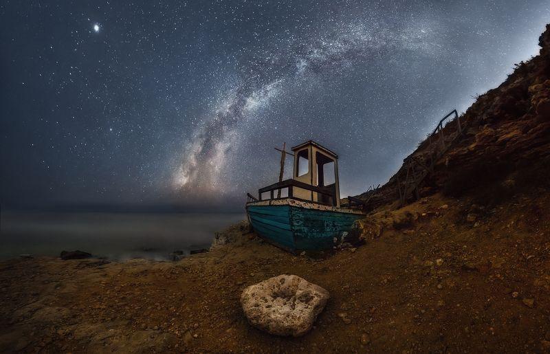 севастополь, млечный путь, кораблик, milky way, landscape Корабликphoto preview