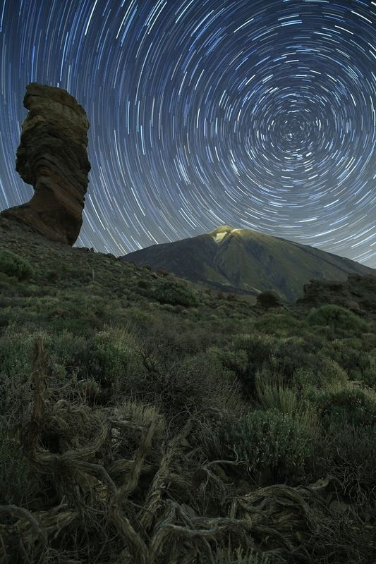 ночь тенерифе ночной пейзаж астрофотография звезды созвездия Time over Teidephoto preview