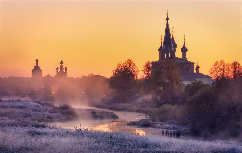 дунилово, река, осень, храм Зима близко...photo preview