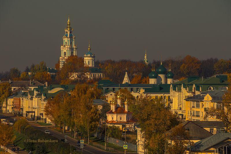 кострома, город, улица, дома, церковь, волга, река, осень, архитектура Осенний город .Костромаphoto preview