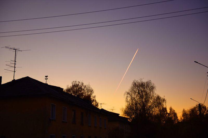 Полет на закатеphoto preview