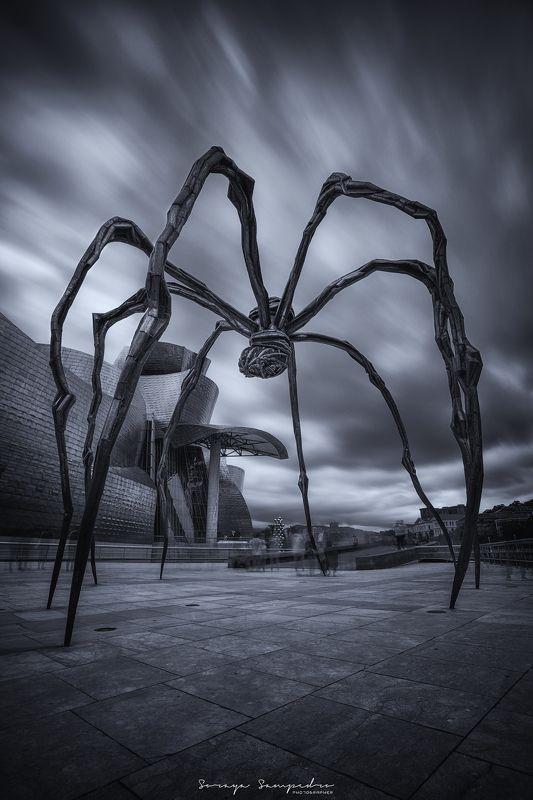 #sculpture #bw #arquitecture #darkmood #spider MAMAphoto preview