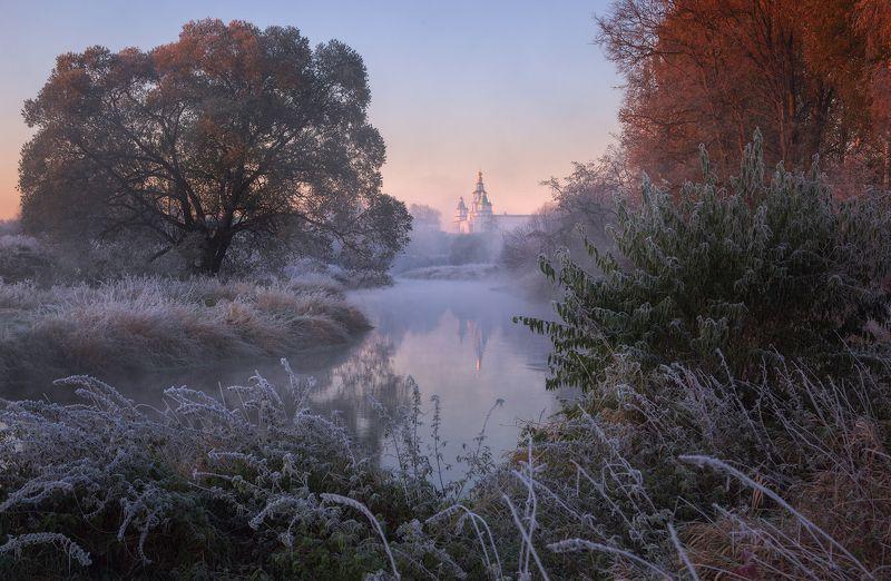 туман, храм, утро, подмосковье, истра Осенние заморозки на Истреphoto preview