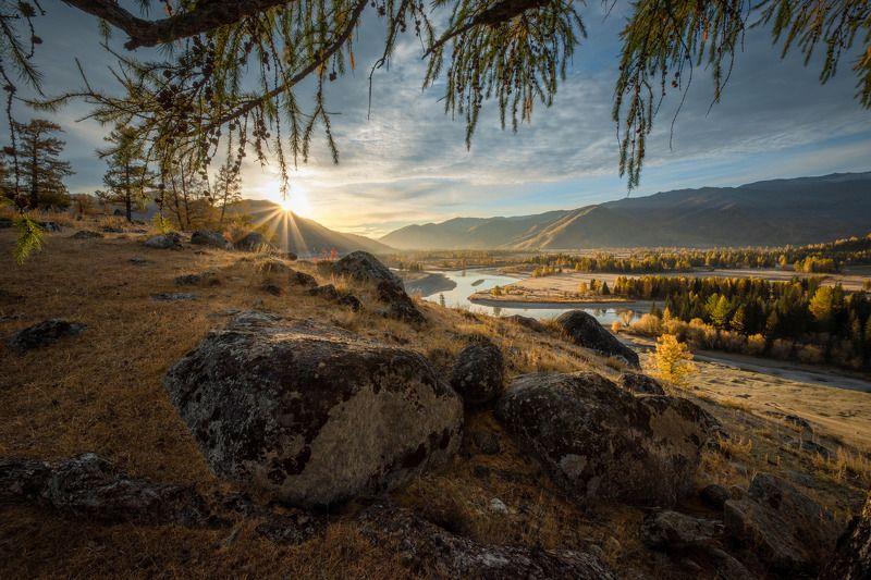 алтай,горы,джазатор,осень в долине Акалахаphoto preview
