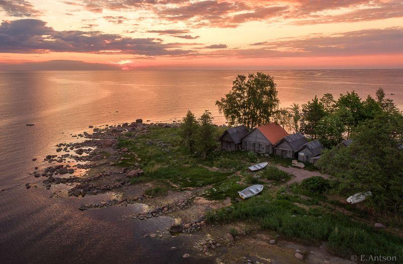 пейзаж, море, эстония, природа Идиллия рыбацкой деревниphoto preview