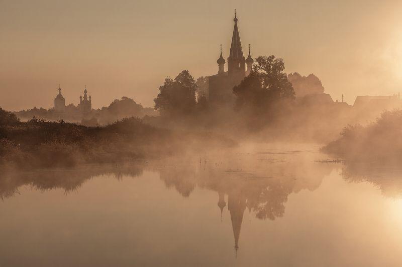 Ивановская область Село Дунилово ранним туманным утромphoto preview