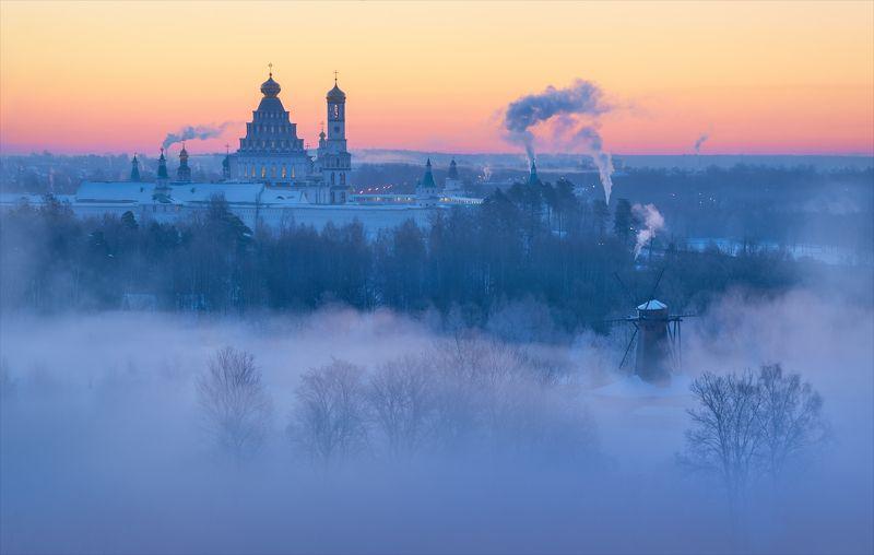 истра, зима, мороз, рассвет, туман Дыхание зимы.photo preview
