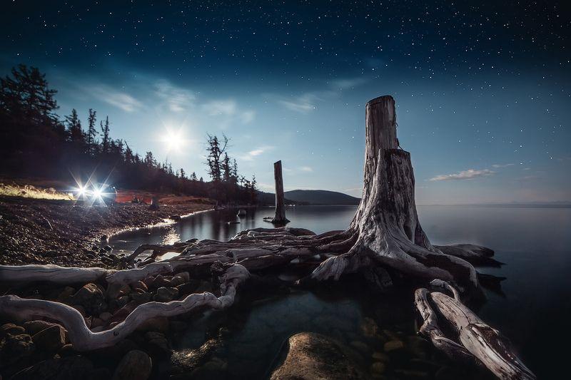 хубсугул, монголия, озеро, ночь Хубсугулphoto preview