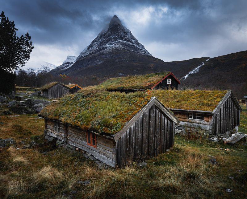 mountains,norway,trollheimen,autumn,evening,moody,magical,national park, Renndølsetra фото превью