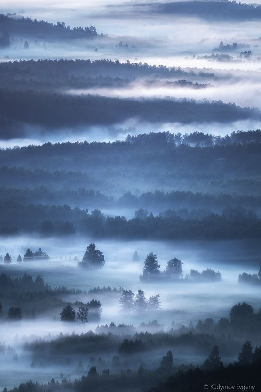 башкирия нурали Туманное утро Башкирииphoto preview