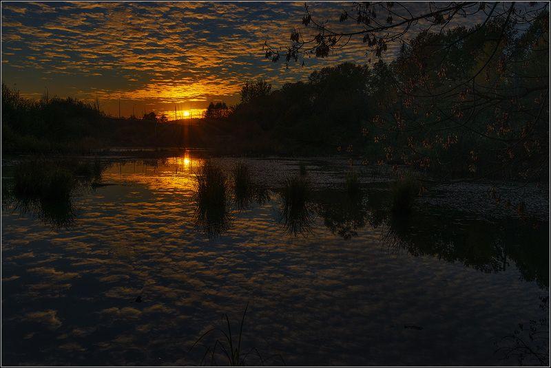 москва, закат солнца, пруд Осенний вечерphoto preview
